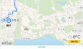 如何在iPhone地图应用中获取任意地点之间的路线?