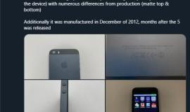 iPhone 5s原型曝光:类似IPhone 5,背面略有不同
